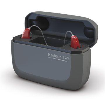 ReSound LiNX Quattro najbardziej zaawansowany ładowalny aparat słuchowy zładowarką