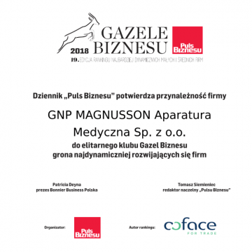 GNP Magnusson laureatem rankingu Gazele Biznesu