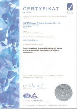 Certyfikat jakości dla GNP Magnusson